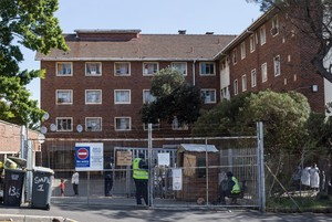 The Woodstock Hospital, now named Cissie Gool House by its occupiers are no longer allowing visitors onto the site due to the Covid-19 virus and lockdown.