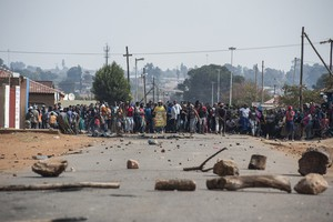 Photo of protest in Johannesburg