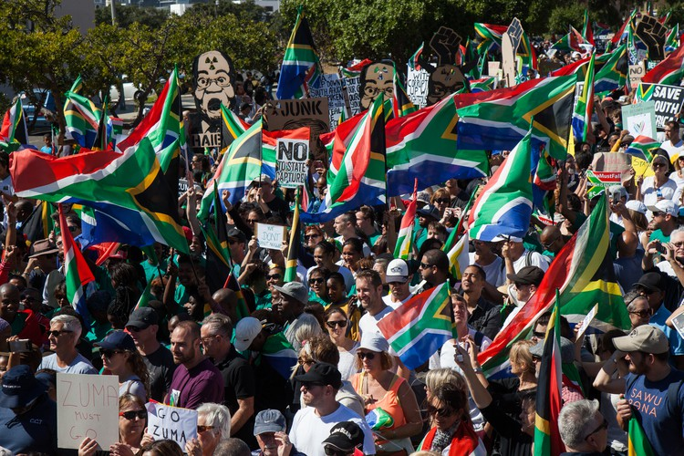 Protest against Jacob Zuma