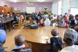 Photo of first day of school in Khayelitsha