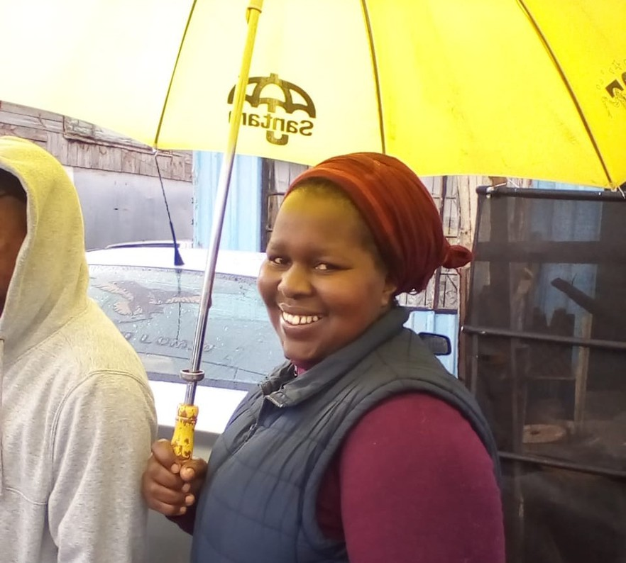 NosisaSeptember VL 20190508 huge - Elections 2019 in photos: South Africans brave cold and wet weather to vote