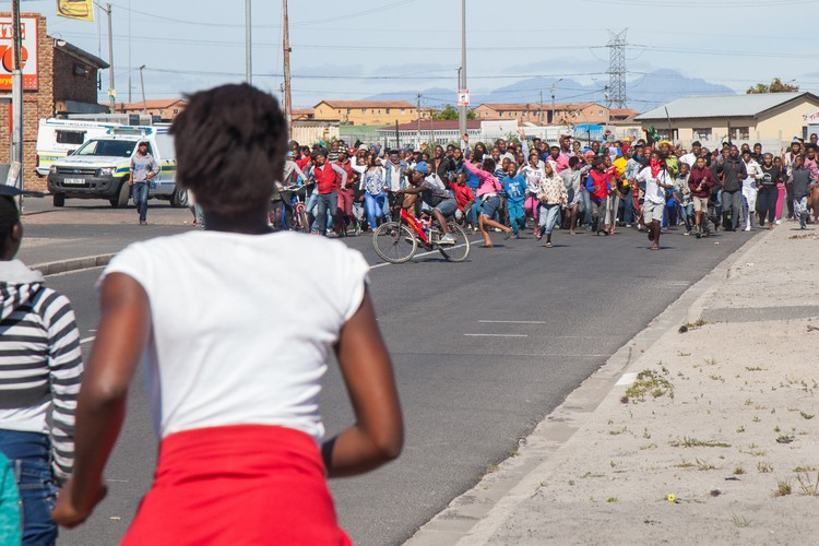 Photo of Langa protest