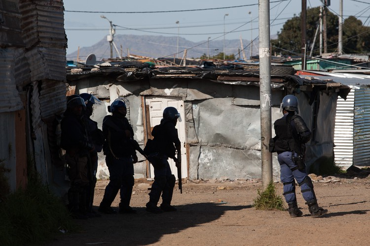 Photo of Police during Langa protest