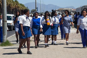 Philippi High School students protest