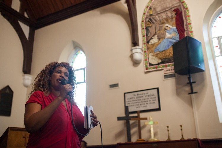 Photo of Elizabeth Gqoboka of Reclaim the City
