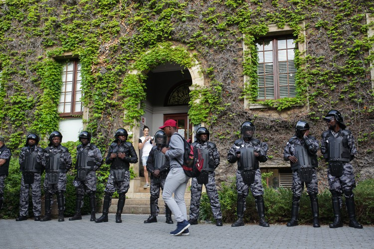 Photo of private security guards at UCT