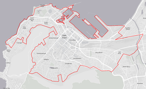 Map of City of Cape Town central area