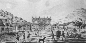 Drawing of Greenmarket Square in 1762