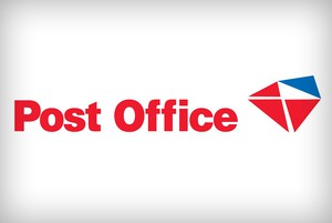 The logo of the post office