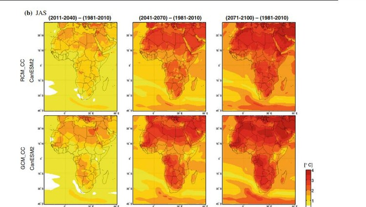 Graphic of climate maps of Africa