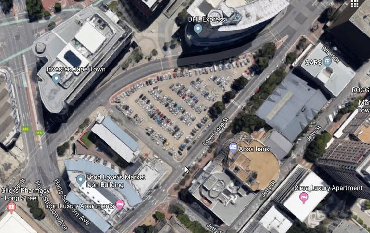 Google satellite image of Foreshore