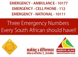 Photo of emergency numbers