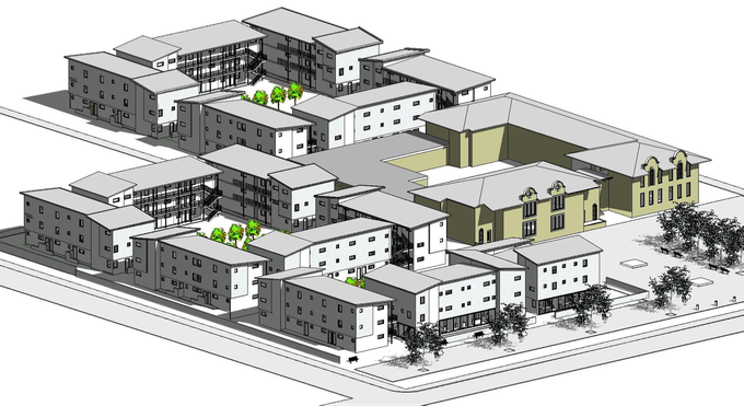 Graphic of proposed affordable housing project for Tafelberg