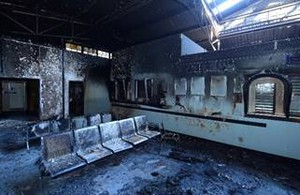Photo of burnt clinic