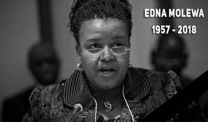 Photo of late Edna Molewa