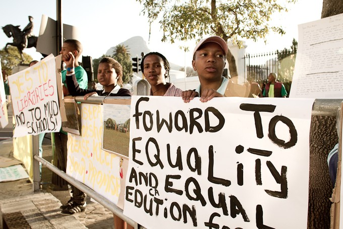 Photo of Equal Education protest.