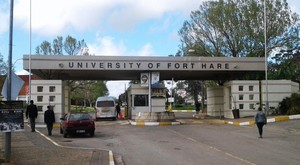 Photo of entrance to Fort Hare University