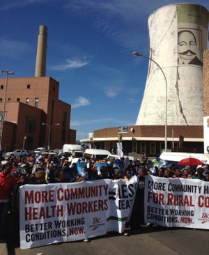 Photo of protest in Bloemfontein