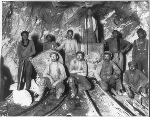 Photo of gold miners