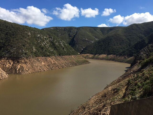 Photo of low water in dam