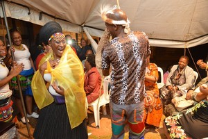 Photo of traditional Zulu marriage