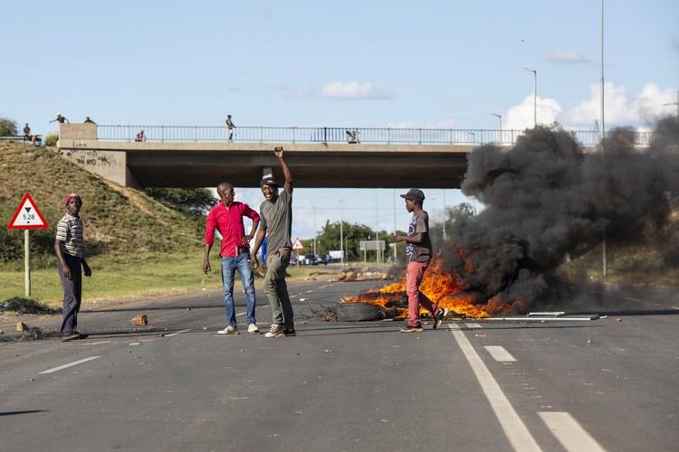 Photo of Mahikeng protest