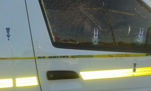 Photo of vehicle with bullet holes