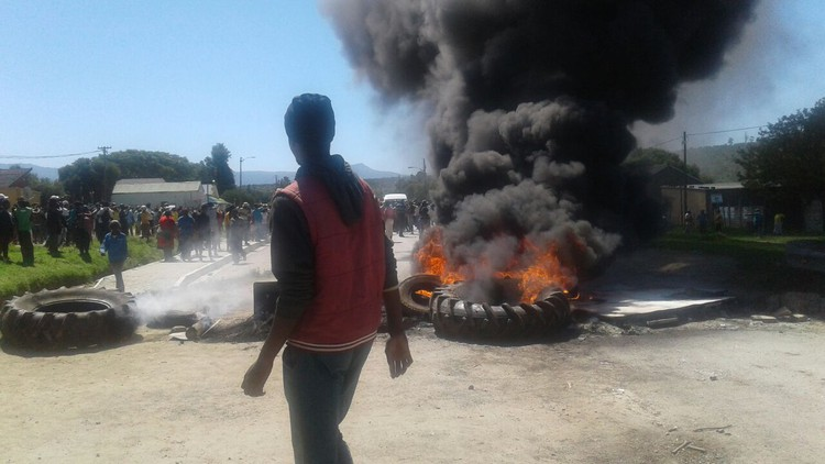 Photo of Qobobo protest on Tuesday