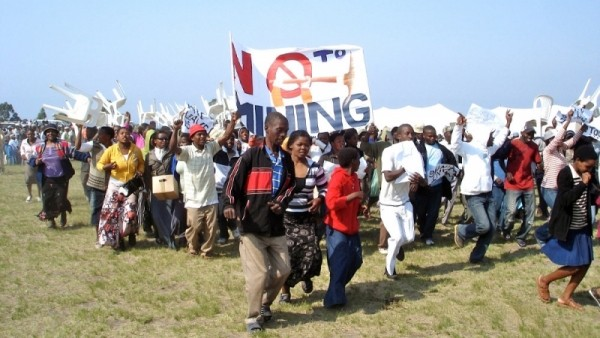 Photo of anti-mining protest
