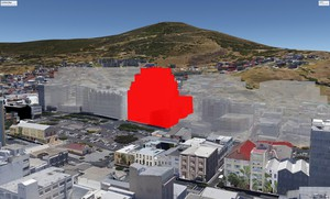 Artist's impression of new building in Cape Town