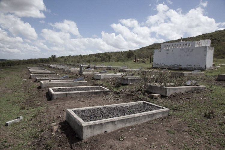 Many families living near the coal mine are still angry that family graves were desecrated and the skeletal remains buried in a cemetery and not at their homes as his custom. Photo: Rob Symons