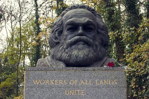 Photo of bust of Karl Marx