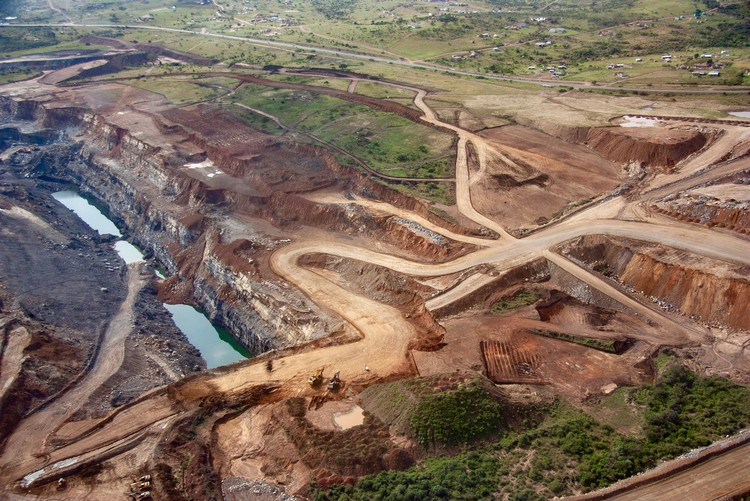 Aerial view of a huge mine
