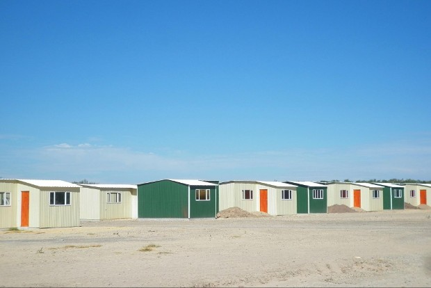Photo of zinc houses