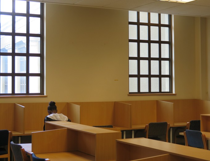 Photo of inside of UCT library