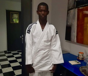 Photo of a teenager in Judo clothes