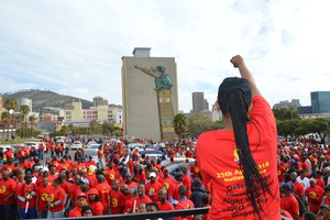 Photo of SAFTU protest in Cape Town