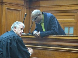 Photo of Zwelethu Mthethwa and William Booth