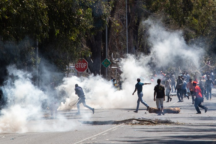 Residents protest for services including a community hall and police station in Witsands in Atlantis - Ashraf Hendricks