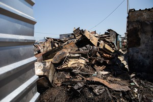 Photo of fire debris