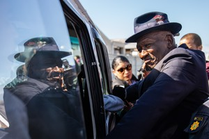 Bheki Cele Walkaround in Lavender Hill