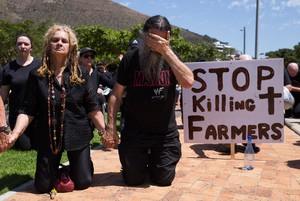 Protest against farm murders