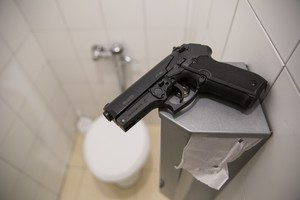 Photo of firearm in basin