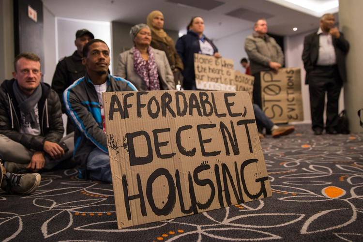 Photo of housing protest
