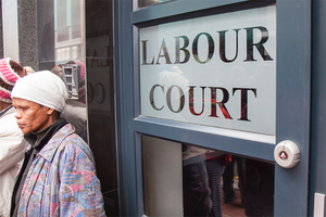 Photo of the labour court sign