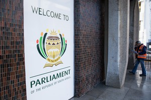 Photo of visitors' entrance to Parliament