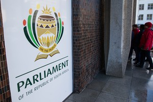 Photo of a sign for parliament