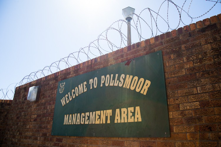 Photo of entrance to prison