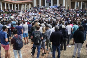 Photo of protest in support of opening UCT