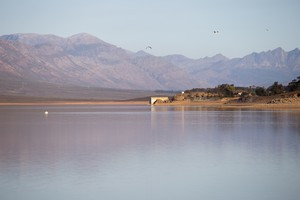 Voelvlei Dam during a severe drought in the Western Cape.
